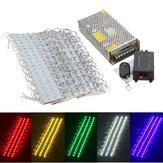 200PCS 5 cores SMD5050 LED Módulo loja Strip Light Front Lamp + Power Supply + DC12V remoto
