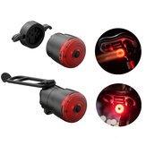 XANES® 6Modes 400mAh USB Rechargeable Bicycle Tail Light Smart Induction Bike Warning Light Safe Riding Accessories