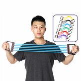 المطاط القابل للإزالة 5 أنابيب الصدر المتوسع اليد القابض الذراع سحب شريط عصابات المقاومة سليمالجسم ممارسة أدوات