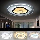 18W moderna flor redonda de acrílico LED luz de techo cálido blanco / blanco Lámpara para la sala de estar AC220V
