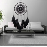 Indian Lace Black Dream Catcher Hanging Decorations Handmade Feather Dream Catcher Bead Ornaments Handmade Wind Chimes Handicraft