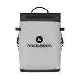 ROCKBROS BX-004 20L Sırt Çantası Soğutucu Sızdırmaz Soft Taraflı Soğutucu Su Geçirmez Buz Paketi Öğle Yemeği Çanta Yalıtımlı Sırt Çantası Soğutucu Çanta 36 Can Soft Kamp, Balıkçılık, Parti, Outdoor Macera, Piknik için Soğutucu