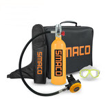 SMACO 1L 20 menit Scuba Diving Tank Set Scuba Tank Pernapasan Valve Goggles Storage Bag Kolam Diving Equipment