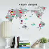 World Map PVC Wall Stickers rimovibili impermeabile Wall Art Decalcomanie Home Decor