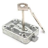 Coffres doubles transparents avec porte mât de drapeau du coffre-fort armoire à clés verrouillage sécuritaire ruban de blocage de la lame