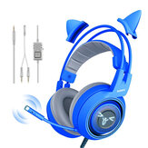 Somic G952S Blue Cute Gaming Headset 3.5mm Plug Wired Stereo Sound Headphone with Microphone for Computer PC Gamer Girls Kids Gifts