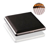 Black Pocket Leather Metal Tobacco 20 Smoke Holder Storage Case Cigarette case Cards Storage Case