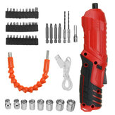 USB Rechargeable Cordless Electric Screwdriver Drill Kit Power Tool W/ LED Light