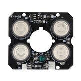 Płyta IR LED do kamery CCTV 4 * Tablica IR LED Spot Oświetlenie na podczerwień Night Vision 850 nm DC12V