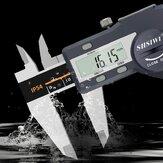 Calibrador digital de 0-150 / 200 / 300mm Calibre Vernier Calibre electrónico de acero inoxidable que mide herramienta IP54 Impermeable