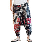 INCERUN Men Ethnic Printing Lose lässige Haremshose Baumwolle Big Size Pants