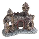 Yani Aquarium Decoration Wizard's Castle Fish Tank Shelter House Handgeschilderd Realistisch Kasteel