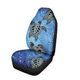 Turtle Printing Universal Coche Van Fundas de asientos delanteros Styling Shield Heavy Duty
