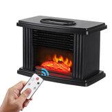 1000W elektrisk peisvarmer 3 gir varmluftblås vedovn peis flammeeffekt