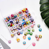 Random Mixed Color Acrylic European Beads DIY Bracelet Hole Bead Jewelry Accessories