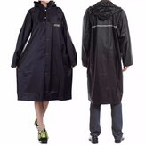 Adult Outdooors RainCoat Long Poncho Hood Thicker Reflective Types Design Work Travel Rainwear