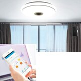50cm AC85-265V LED RGB Music Ceiling Lamp APP + Controle Remoto Smart Ceiling Light Works c / Google Home Alexa