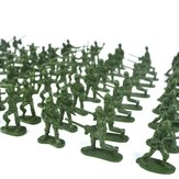 YC 998-3 100PCS 5cm Soldier Army Troop Figure Battle War DIY Scene Model