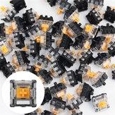 70 unidades / pacote Gateron Optical Switch Linear Clicky Switch Teclado Switch para teclados ópticos Mecânico para jogos