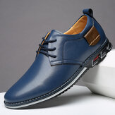Men Microfiber Leather Non Slip Business Casual Shoes