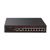Switch Ethernet 10 porte Switch di rete POE Splitter Ethernet Desktop 10 / 100Mbps Desktop per IP TVCC POE fotografica Ottimizzazione del traffico AP wireless