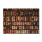 Beer Collection Poster Kraft Paper Wall Poster 21 inch X 14 inch