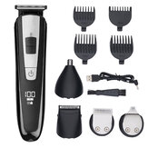NK-2555 5 in 1 LCD Display Multifunctional Hair Trimmer USB Rechargeable Electric Hair Care Clipper