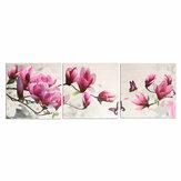 3 piezas decorativas de pared Oil lienzo de pintura magnolia decoración de pared cuadros de arte decoraciones colgantes de pared sin marco para oficina en casa