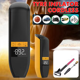 Bakeey Tyre Inflator Cordless Portable Compressor LCD Digital Display Car Tyre Pump LED Light Air Pump For Car Bicycle Tires Balls Swimming Rings Toys