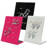 30 Pairs Velvet Earrings Jewelry Display Stand Holder Show Case
