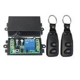 Interruptor sem fio do RF Controle Remoto do canal do relé 1CH da CC 12V 10A com 2 transmissores