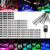 Многоцветной свечение неоновой беспроводной пульт дистанционного мотоцикла 5050 LED мигающий свет 12 полос