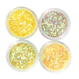 Kuning Glitter Powder Shining Iridescent Mixed Mermaid Lustre Dekorasi Debu Eye Shadow