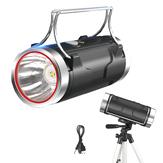 XANES®1100LM400Mホワイト/ブルーデュアル光源強力キセノンランプ、65cm調整可能三脚+ 18650、USB-DC充電式強力ハンドヘルプLED懐中電灯屋外ナイトフィッシングルアーポータブルランプ