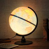 Globo do mundo Universal LED Rotating Swivel Mapa da Geografia do Atlas da Terra
