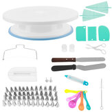 69Pcs Cake Decorating Kit Non-slip Cake Turntable Scrapers Pastry Bags Tool