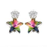 Simple Star Ear Stud Earring Dazzling Cubic Zirconia Star