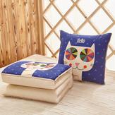 Honana WX-129 multi-função dobrável travesseiro edredão de ar condicionado Cartoon Car Home Bolster cobrir travesseiro