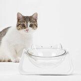 15 graden verstelbare 2 in 1 voerbak voor huisdieren Hondenvoer Voedsel Schotel Feeders Servies Gog Kattenvoer Waterbak