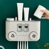 Multifunctionele plastic tandenborstelhouderset met vier kopjes