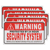 5 szt. Self-adhensive Camera CCTV Sticker Safty Signs Decal Protected by 24 Hour Security System