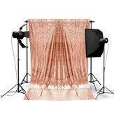 1x1.5m Panno decorativo scintillante in oro rosa con tovaglia scintillante