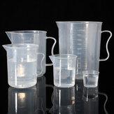 20ml à 1000mL en plastique gradué tasse de tasse à mesurer avec outil de mesure de volume de laboratoire de bec