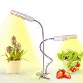45W Full Spectrum 88 LED Plant Grow Light Dual Head Clip Gooseneck Lampe for innendørs planting Blomstrende frukt