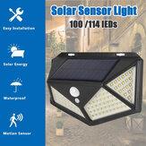 1 PC / 2PCS LED Luz Solar 3 Modos de Movimento À Prova D 'Água Ao Ar Livre Sensor Lâmpada de parede para Garden Street