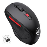 HXSJ T67 2.4G Wireless Mouse 1600DPI 6 Buttons Ergonomic Energy Saving Home Office Business Gaming Mouse with USB Receiver for PC Laptop Computer