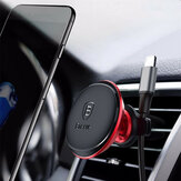 Baseus Cable Clip Magnetic Rotation Car Air Vent Phone Holder Stand for Samsung S8 iPhone X