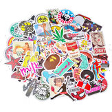 100Pcs Graffiti Decorative Stickers Cartoon Suitcase Sticker Waterproof