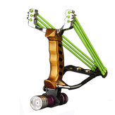 IPRee® al aire libre Tactical Metal Slingshot Rubber Banda Catapult cámping Juego Sling Shot Kit
