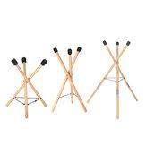 HLURU Μουσικό Όργανο Χειροποίητο Χάλυβα Γλώσσα Τύμπανο Universal Solid Wood Performance Drum Bracket